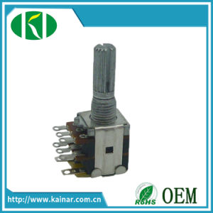 12-13mm Dual Gang Rotary Potentiometer with Switch Wh12-2-K2-1 pictures & photos
