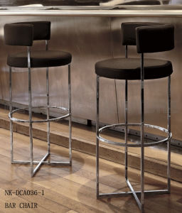 Popular Round Circle Metal Bar Chair with Low Backrest (NK-DCA036-1)