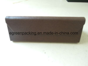 Coffee Color PU Triangle Fold Eyeglasses Case (KS1) pictures & photos