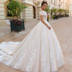 Strapless Sweetheart Princess Wedding Dress with Shawl pictures & photos
