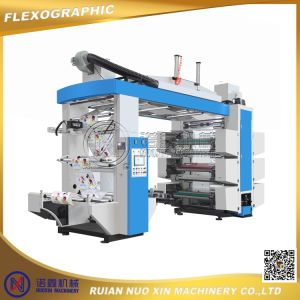 PE Nylon Poly/Plastic Film/PP Woven/Paper 6 Color Flexographic Printing Machine pictures & photos
