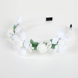 White Artificial Flower Headband for Wedding Decoration pictures & photos