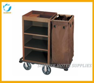 Single Bag Cleaning Housekeeping Cart for Hotel pictures & photos