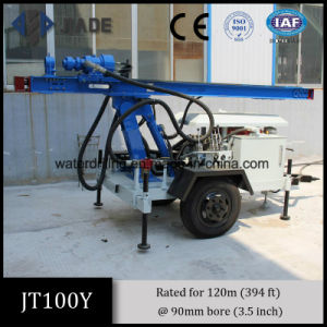 Jt100y Small Portable Trailer Mounted Water Wells Drilling Rig pictures & photos