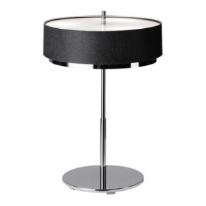 High Quality Modern Chrome Bedside Desk Table Lamp Lighting for Living Room, Fabric Shade, Top & Bottom with Glass Cover pictures & photos