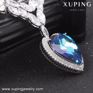 43187 Fashion Luxury Big Heart of The Ocean Necklace for Wedding or Party pictures & photos