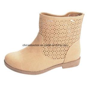 China Lady Summer Boots Supplier PU Leather pictures & photos