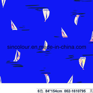 Sailing Boat Knitted Print 80%Polyamide 20%Elastane Fabric for Swimwear pictures & photos