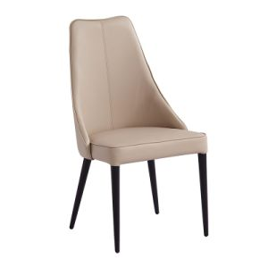 High Back White Color Dining Chair Manufactor (C023) pictures & photos