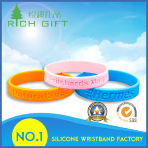 Supply Manufacture Debossed Silicone Wristband at Low Price pictures & photos