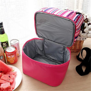 2017 New Stripe Portable Double Picnic Bag Multi Colored Shawl Bag Convenient to Keep Cool (GB#CL1523) pictures & photos