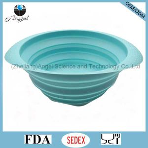 Eco-Friendly Kitchen Accessories Silicone Filter Basket to Wash Fruit and Vegetable Sk36 (L)