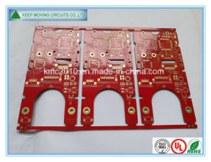 Double-Sided Red Solder Mask Immersion. Gold PCB pictures & photos