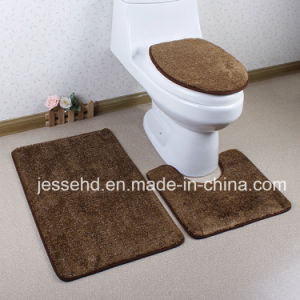High Pile 3PCS Washable Soft Comfortable Anti Slip Bathroom L Rug Set pictures & photos