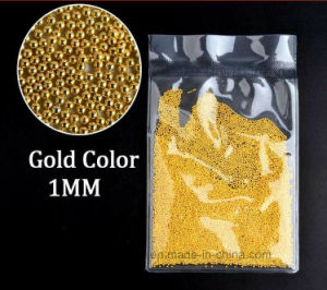 1mm Gold Silver Mini Metallic Caviar Nail Beads for 3D Nail Art Tips Decoration Manicure Tools (FB-1mm gold carvia) pictures & photos