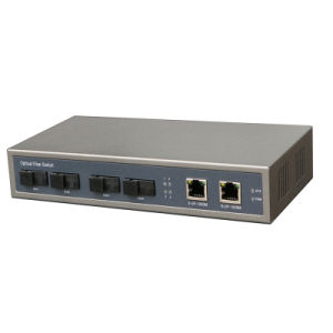 4 Giga Sc Fiber Port and 2 Port RJ45 1000Mbps Network Switch Work as Core Fiber Switch pictures & photos