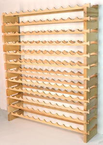 12 Rows 114 Bottle Wooden Wine Rack pictures & photos