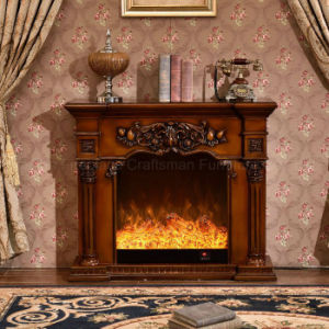 Home Furniture sculpture European LED Lights Heating Electric Fireplace (318) pictures & photos