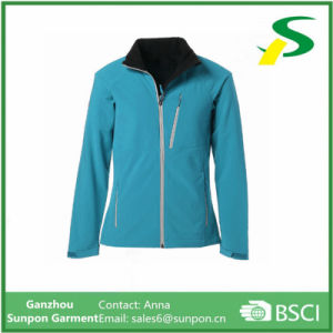 Custom Women Sports Clothes Leisure Softshell Jacket pictures & photos