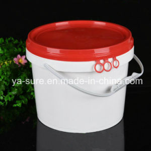 5L Round Plastic Packaging Bucket with Ring-Pull pictures & photos