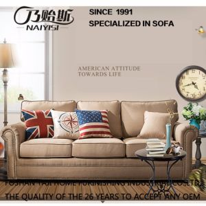 American Country Style Leisure Fabric Sofa for Home Furniture M3001 pictures & photos