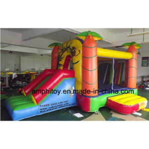 Maple Leaf Inflatable Front Slide Combo/Inflatable Jumper Combo