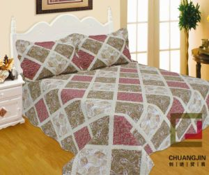 100%Microfiber Ultrasonic Quilt / Bedspread pictures & photos