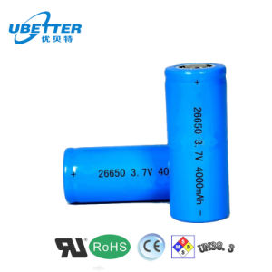 3.2V 1000mAh Rechargeable Cylindrical LiFePO4 Battery Cell pictures & photos