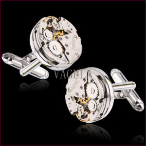 New Arrival Steampunk Gear Watch Cuff Links Movement Cufflinks 126 pictures & photos
