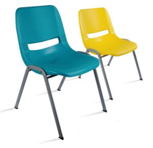 Plastic Stackable Leisure Restaurant Chair with Metal Frame pictures & photos