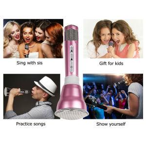 Wireless Microphones Karaoke, 3-in-1 Bluetooth Karaoke machine KTV(Rose) pictures & photos