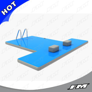 FM Drop Stitch Fabric Inflatable Boat Dock Durable Water Floating Deck pictures & photos