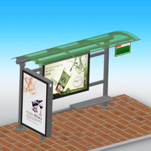 Outdoor Nice Appreance Firm Steel Advertising Bus Shelter Design pictures & photos