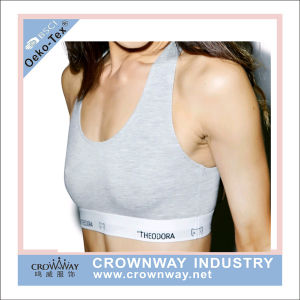 Cotton Spandex Gym Sports Bra with Custom Logo pictures & photos