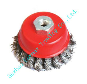 Cup Brushes, Wire Brush Knotted (WB-004) pictures & photos