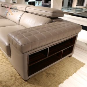 Modern Grey Leather Sofa with Corner (JM-1631A) pictures & photos