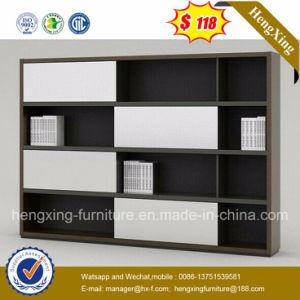 Black Color Office Furniture Melamine Bookcase File Storage Cabinet