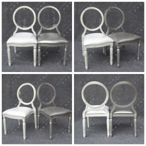 Stackable White Chiavari Louis Xv Wedding Chair with Removable Crystal Acrylic Resin Pad for Event and Banquet Dining Room (YC-D88) pictures & photos
