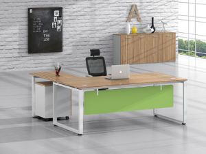 White Customized Metal Steel Office Executive Desk Leg with Ht11-2 pictures & photos