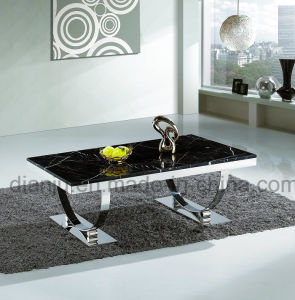 Stainless Steel Black Marble Coffee Table (CT6008)