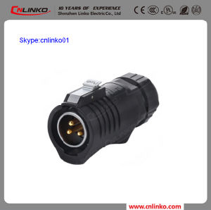 Cnlinko Brand IP67 3pin Power Connector High Safety Performance Male Plug for LED Screen pictures & photos