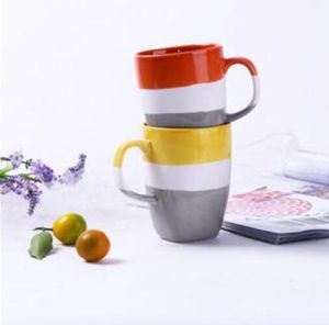Fine ceramic Green Galzed Travel Mug with Handle pictures & photos