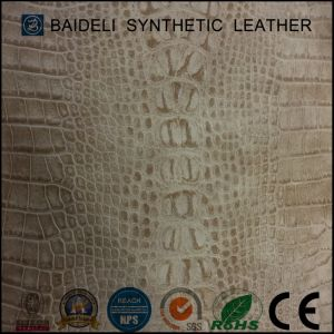 Crocodile Pattern PVC Garment Leather pictures & photos