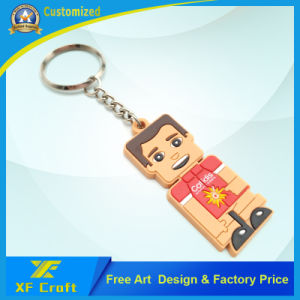 Lowest Factory Price Customized Plastic Soft PVC Key Chain for Souvenir (XF-KC-P39) pictures & photos