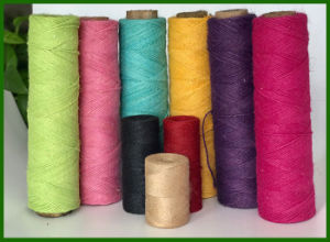 Handmade Colorful Deyd Jute Twine pictures & photos