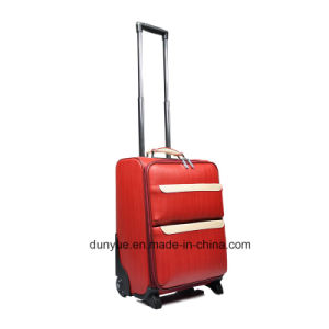 "Portable Ladies PU Leather Trolley Case Bag, Custom 16"", 18"", 20"", 24"" Printing Travel Luggage Suitcase with Wheels pictures & photos"