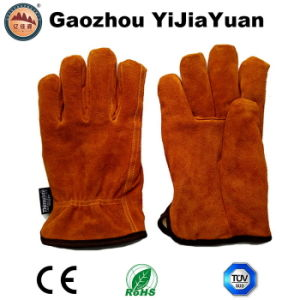 Cow Split Leather Winter Drivers Gloves with Thinsulate Lining pictures & photos