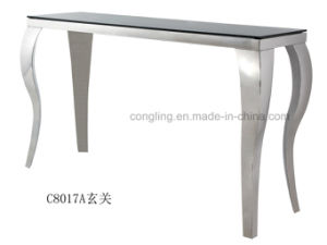Modern Top Glass Console Table Furniture/Coffee Table pictures & photos