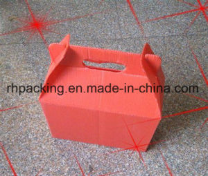 Pink or Orange Egg Boxes /PP Corrugated Plastic Boxes /Cutting Die /Silk Screen Printing Instead of Cardboard Box pictures & photos