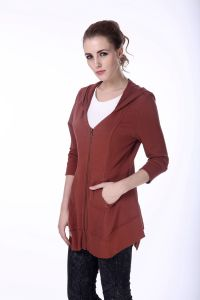 Women Spring/Autumn Slim Casual Fashion Jacket with Long Sleeve Zip up pictures & photos